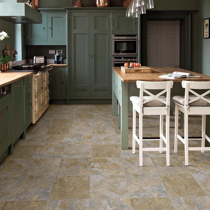 Wide X Your Choice Length Residential Vinyl Sheet Flooring, Grey Slate  Finish
