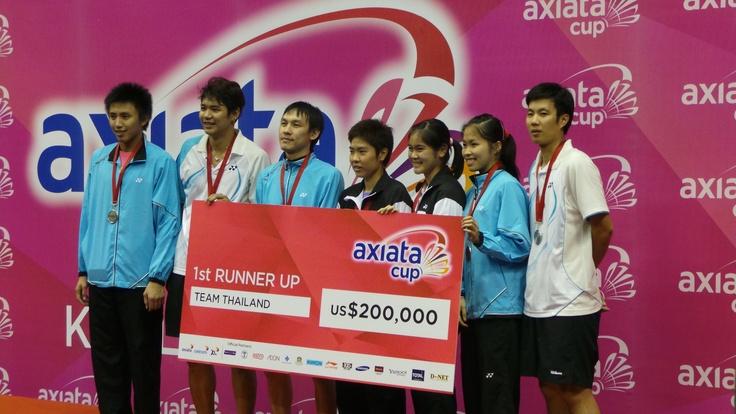 Axiata Cup 2013 runner up - Team Thailand