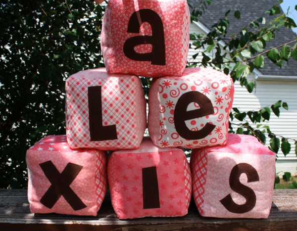 DIY Baby Blocks!  Definitely going to have to try this...makes a great baby gift! :)
