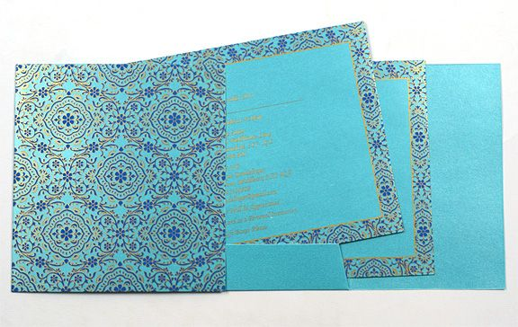 Indian Wedding Card: Online Store blue