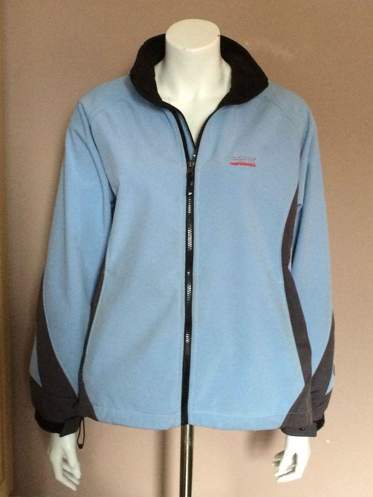 Peak Performance Jacket Windstopper Pale Blue and Grey Women Size XL
