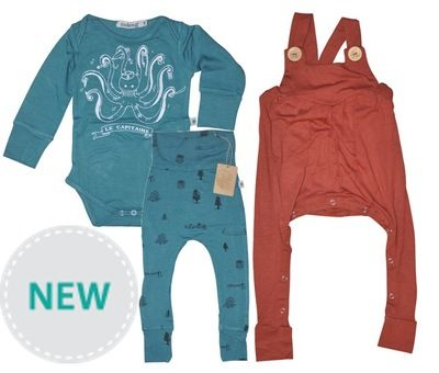 Create three different outfits from this set! Includes 1 x Bamboo Onesie, 1 x Bamboo Leggings and 1 x Bamboo Overalls in your choice of size.