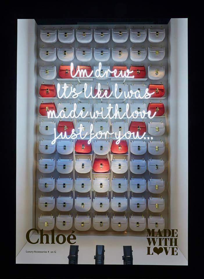 "HARRODS,London,UK presents:Chloe, ""Made with Love"", display by Chameleon Visual,pinned by Ton van der Veer"
