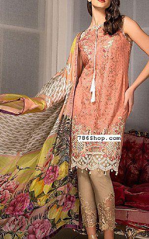 Peach Lawn Suit | Buy Pakistani Dresses | 786Mall.pk