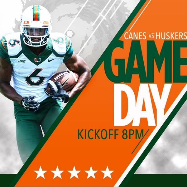 Miami Football - Gameday Graphic