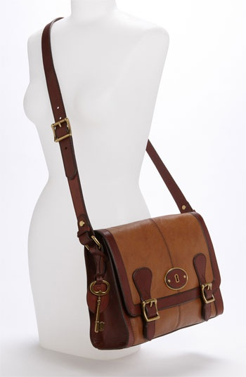 Cute and classic!  Want!  Fossil 'Vintage Re-Issue' Messenger Bag at Nordstrom