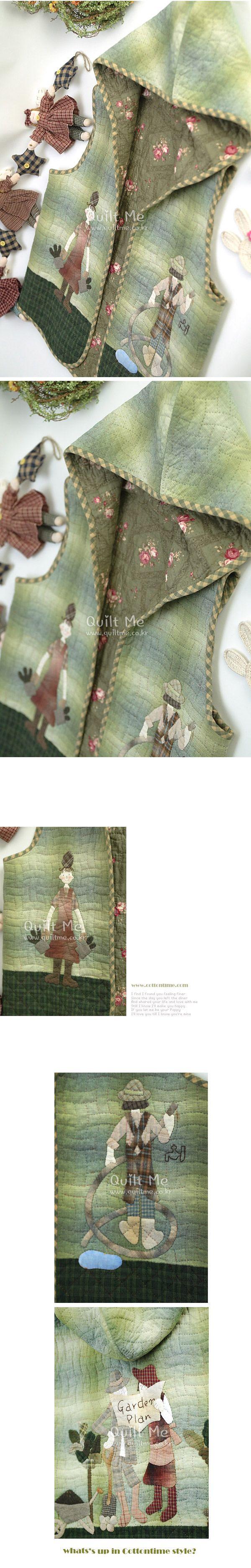 퀼트미 [가든플랜 후드조끼-어른용 (패턴)]