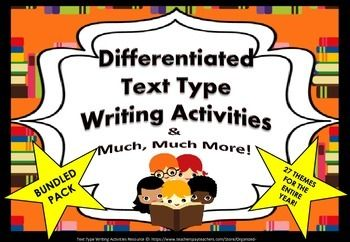 Text-Types Bundle-Pack of Differentiated Writing Tasks For
