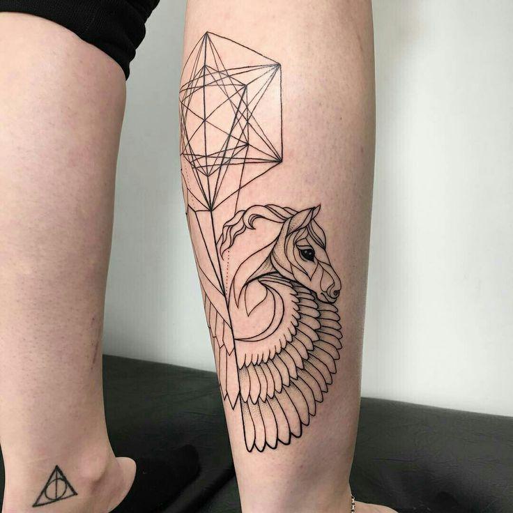 Tattoo done by: Ira Shmarinova #tatuaje #tattoo #caballo #pegaso
