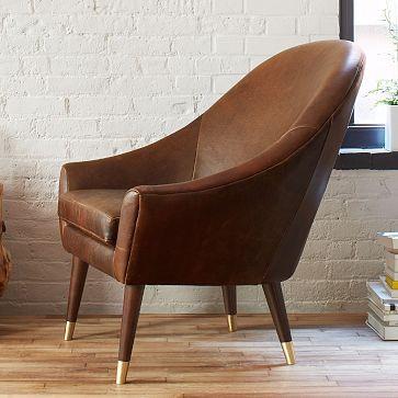 Beckett Leather Club Chair #westelm