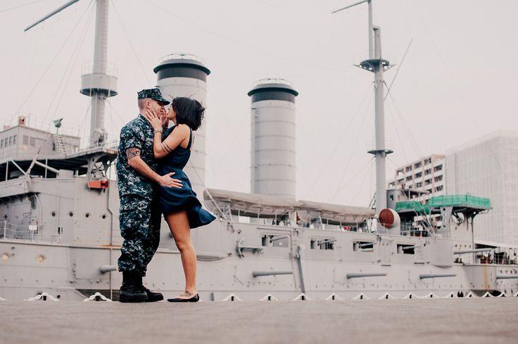 Navy Engagement Photos : Yokosuka, Japan | Yokosuka Photographer | Yokohama Wedding Photographer | Pensacola, New Orleans, NYC: Artistic Family Photographer