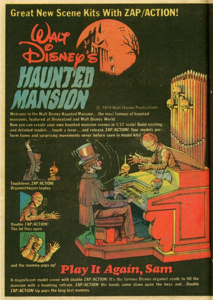 Haunted Mansion model-kit ads - Boing Boing