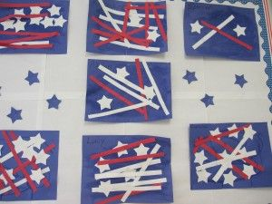 4th of july theme preschool fourth of july in preschool crafts shape and american flag 775
