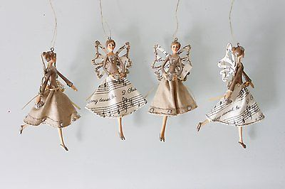 #Beautiful gisela graham christmas hanging #music theme hessian fairy #angel 1203,  View more on the LINK: 	http://www.zeppy.io/product/gb/2/361434534953/
