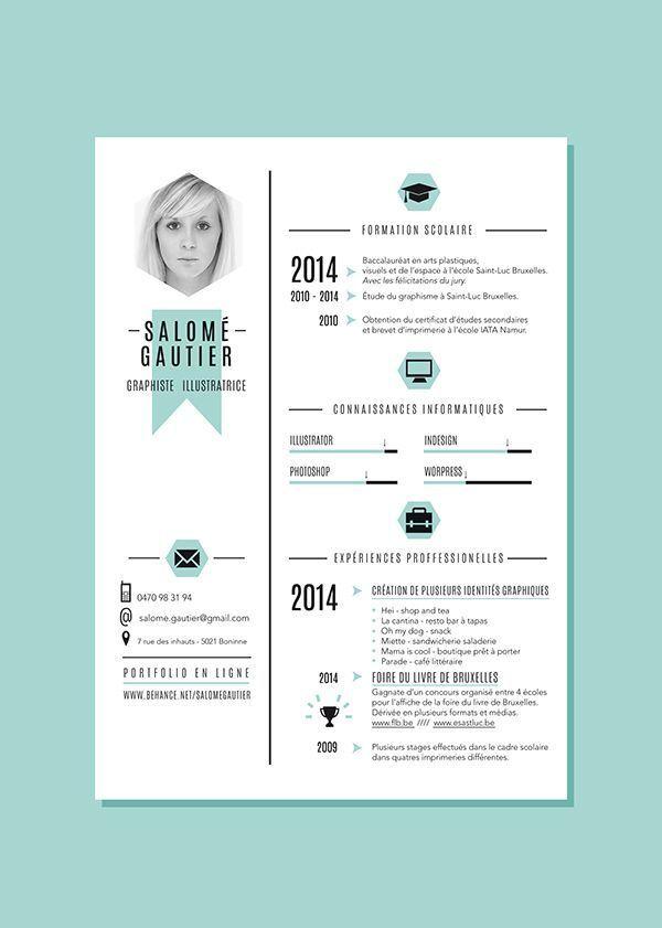 Curiculum Vitae Portfolio On Behance Graphic Design Resume Graphic Design Cv Resume Design