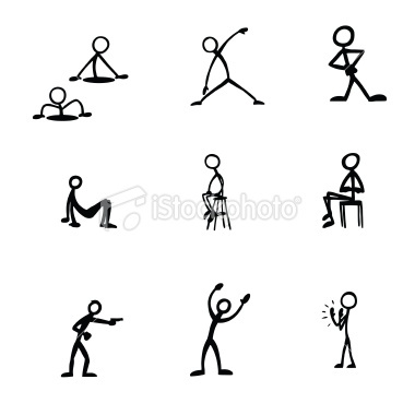 Stick Figure Activities Royalty Free Stock Vector Art Illustration