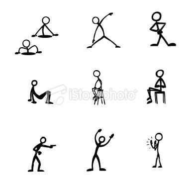 Stickfigure Activities Royalty Free Stock Vector Art Illustration