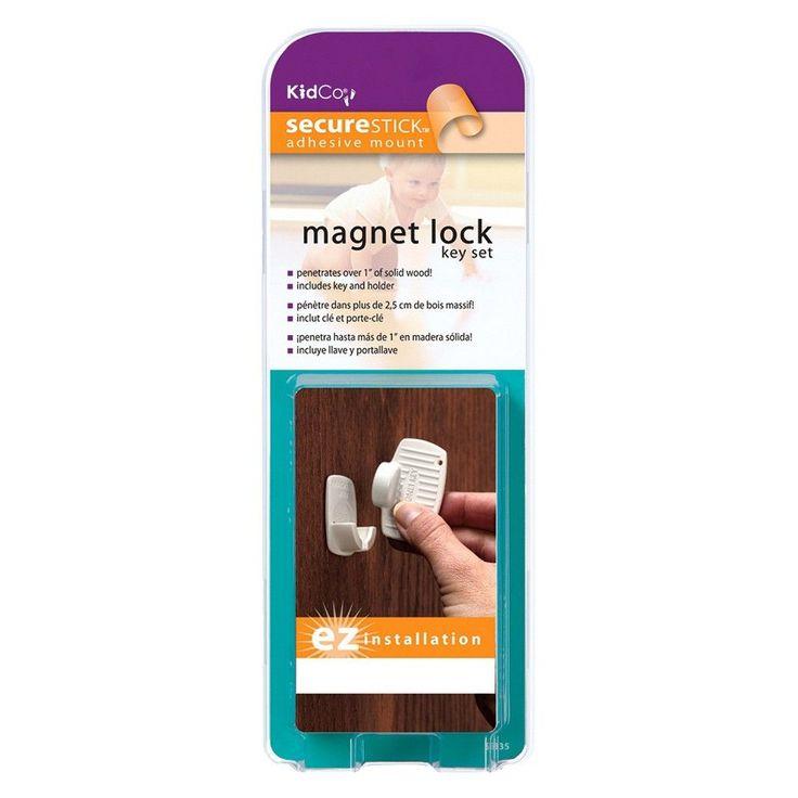 KidCo Magnet Key & Holder Safety Latch, White