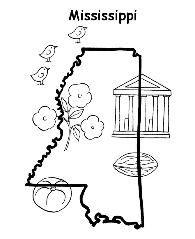 Mississippi State Fair Coloring Page Free Admission
