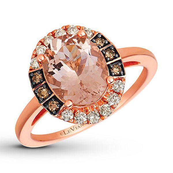 Le Vian Diamond Ring 3/4 ct tw 14K Strawberry Gold Kay in