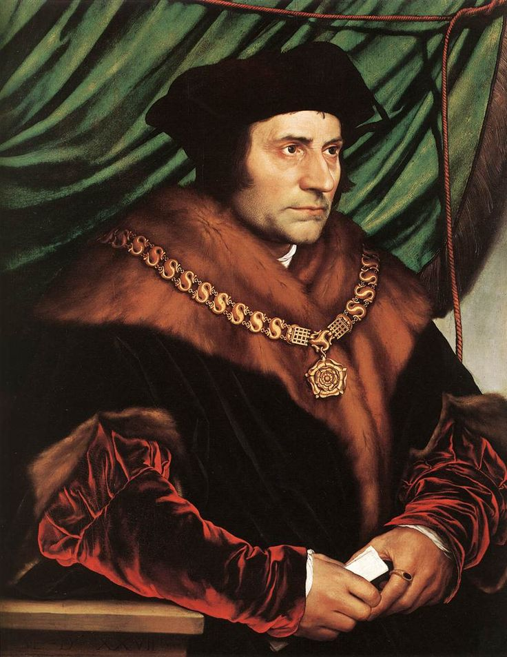 Sir Thomas More by Holbein, c. 1527. Part of the Frick Collection in New York.