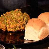 Pav Bhaji Recipe - Vegetables cooked and mashed together to make a low fat pav bhaji.