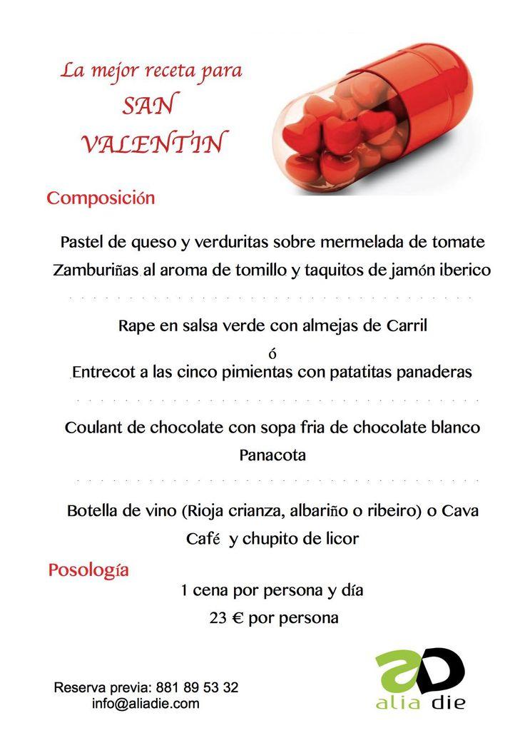 ¿qué cartel os gusta más para la cena de San Valentín?  opción 1:  píldoras