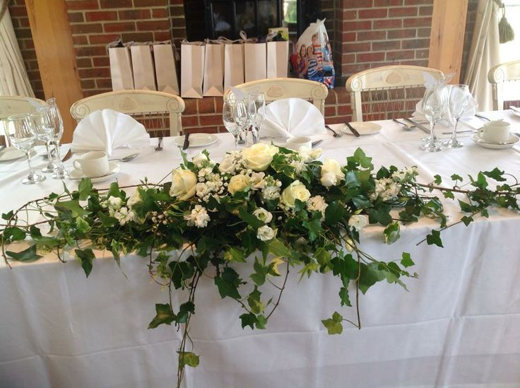 Head Table Decor With Ivy And Floral