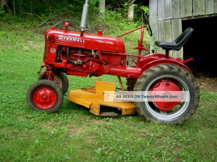 Antique Ih Cub Tractor : Best images about vintage farmall tractors on pinterest