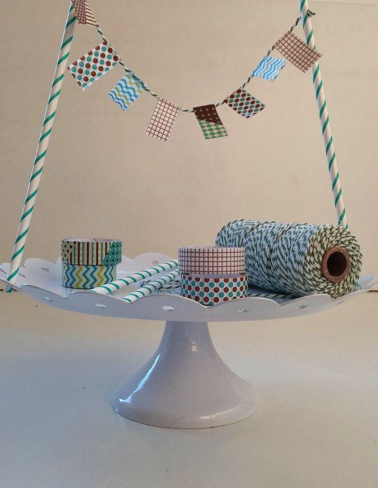 De Verleidelijke Tafel: DIY vlaggenlijn voor op een taart