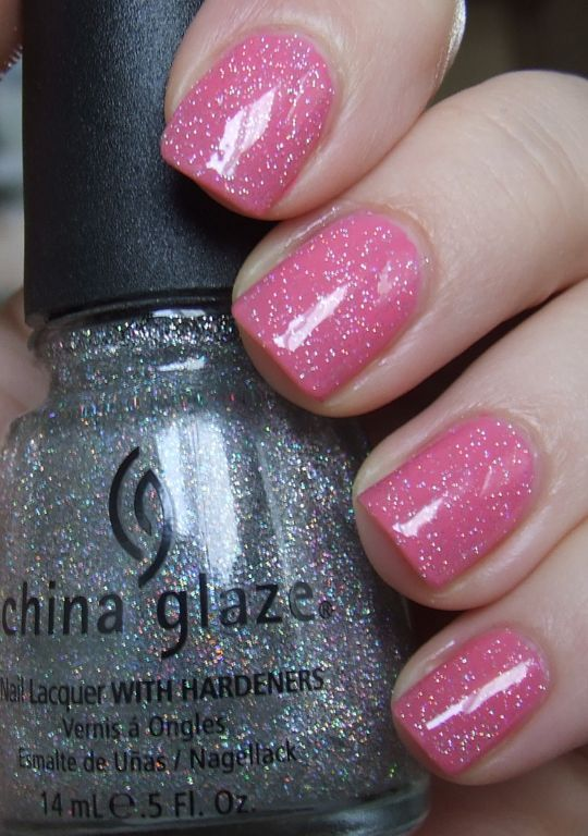 China Glaze fairy dust. I've been looking for a glitter nail polish like this! Finally my search has come to a stop!