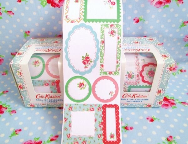 Cath Kidston Roll Of Stickers And Labels Stationary Design Pattern