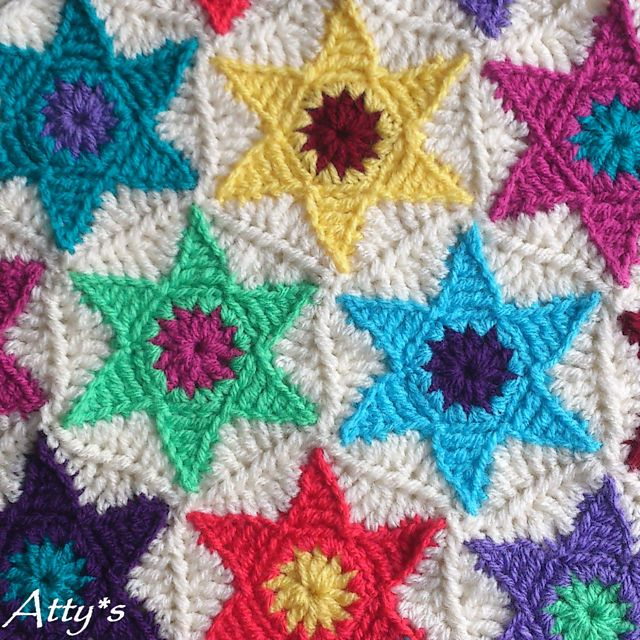 Ravelry: Star Hexagon - free pattern by Atty van Norel