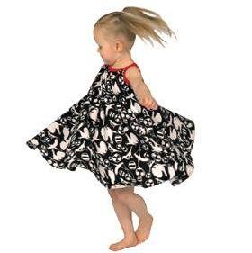Liina -dress makes girls spin around.