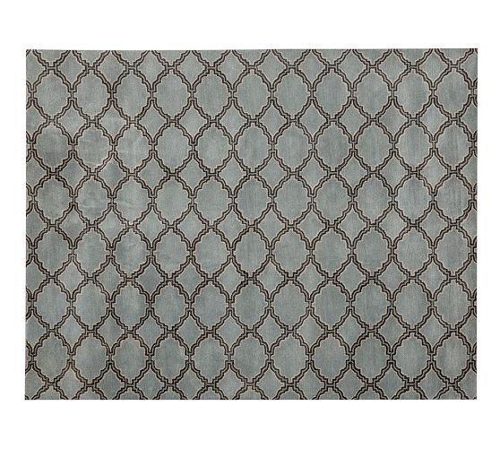 Landen Medallion Tufted Wool Rug 8 X 10 39 Blue 530 To