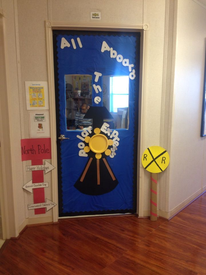 Christmas Classroom Door Polar Express Christmas Door