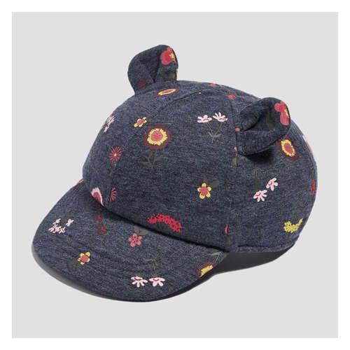 Baby Girls' Floral Print Animal Ear Cap