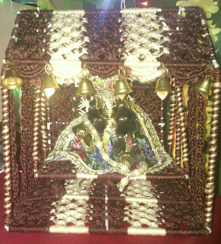 Macrame jhula of god krishna my creations multi tasks for How to make jhula at home