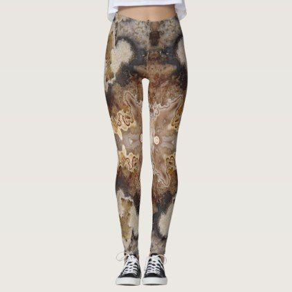 Fancy Crazy Lace Agate Rock Photo Designed Leggings - fancy gifts cool gift ideas unique special diy customize