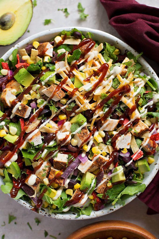 BBQ-Hähnchen-Salat   – Healthy Eating