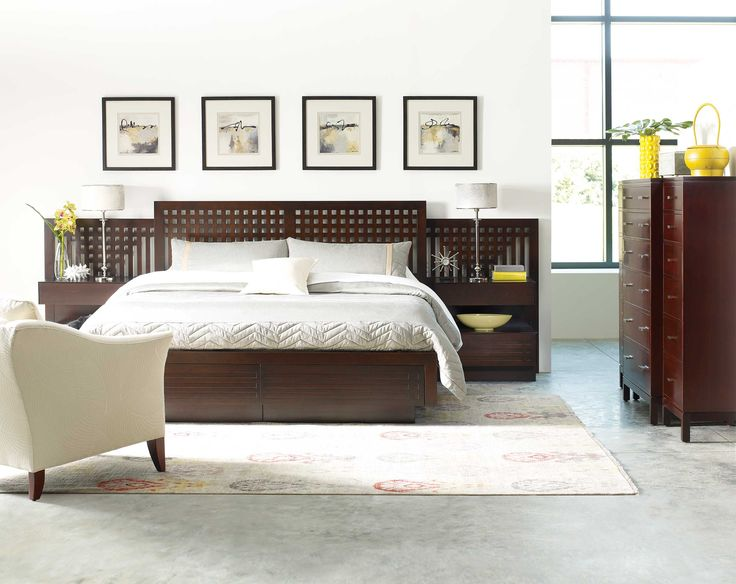Charming Stickley Furniture Glasgow Bed Shown With Night Stands A Dramatic  Interweaving Of Wood On The Headboard Of This Platform Storage Bed Is  Inspired Fru2026