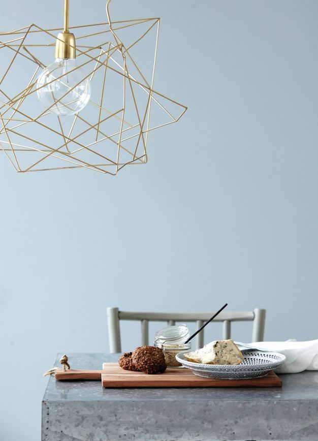 My Dining Room: Extra Large Geometric Wire Light Shade in Gold by Home Candy