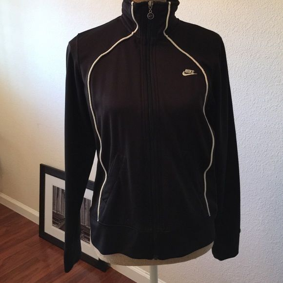Nike Sports Jacket Great condition black Nike brand sports jacket with zipper. Nike Jackets & Coats