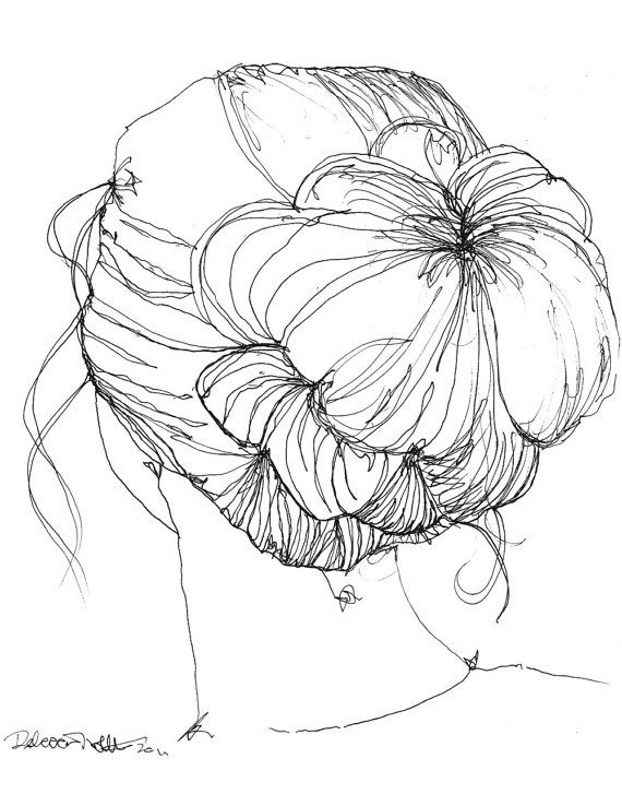 Line Art Hair : Best images about contour drawings on pinterest