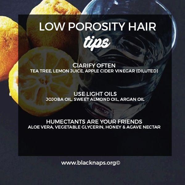 Tips for low porosity hair