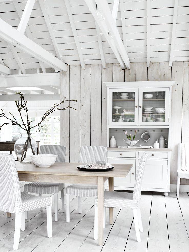 Suffolk dresser & Wardley table #CoolWhiteKitchen #NeptuneHome