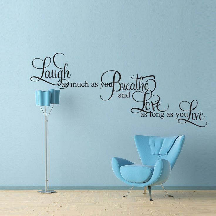 Vinyl Wall Decal Sticker Art   Laugh Breath Love Live   Large Mural   I  Just Like The Quote. Part 40