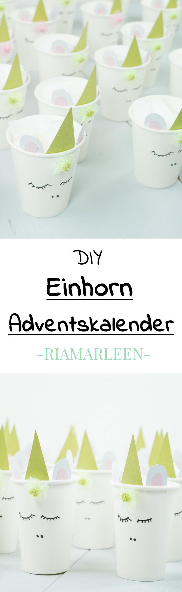 DIY Einhorn Adventskalender basteln + 30 Ideen, wie ihr den Adventskalender befüllen könnt. Klicke auf das Bild für mehr Informationen und ich zeige dir ausführlich, wie du diesen schönen Adventskalender einfach selber machen kannst... DIY Weihnachten, DIY Einhorn