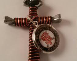 Kết quả hình ảnh cho Baseball Cross Necklace