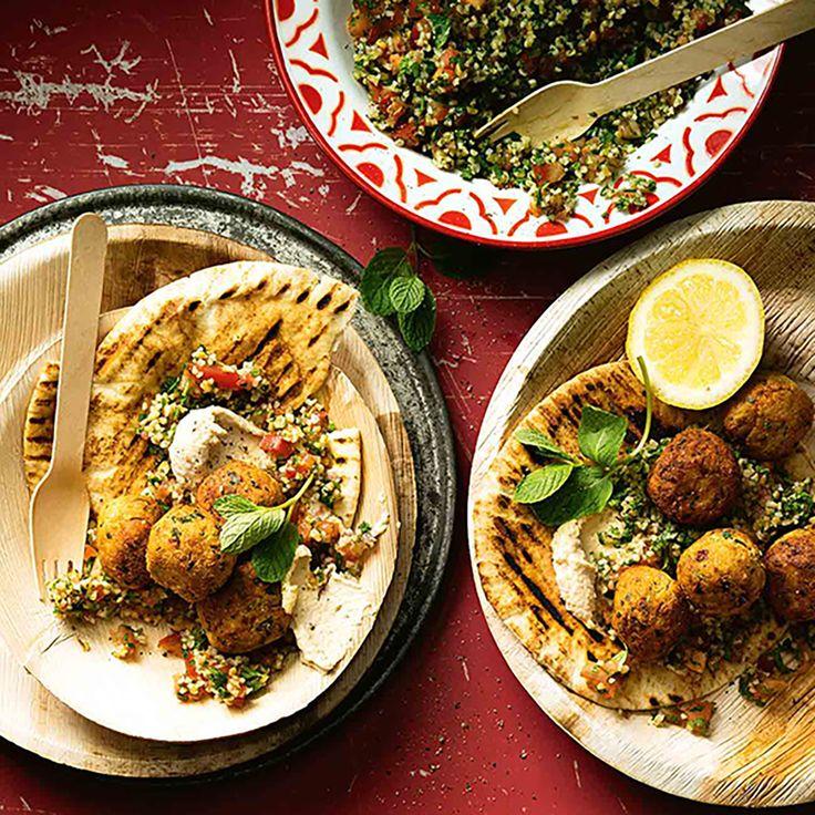 How to make Falafels with Tabouli #Falafel #Tabouli #Vegetarian